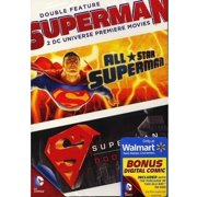 DC Universe: Superman Double Feature (DVD + Digital Comic) (Walmart Exclusive) (Widescreen) by WARNER HOME ENTERTAINMENT