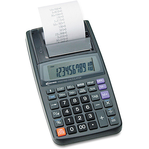 Innovera 16010 Handheld Calculator, 12-Digit LCD, Black