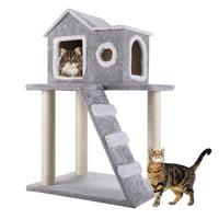 "Pet Play Palace 35.4"" Cat Scratching Tree Condo Furniture"