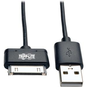 Tripp Lite 10in USB Sync/Charge Cable with Apple 30-Pin Dock Connector, -