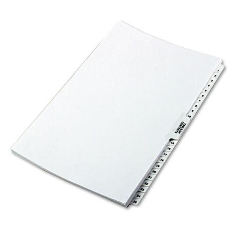 "80000 Series Side Tab Legal Index Divider Set, Printed ""1""-""25"""