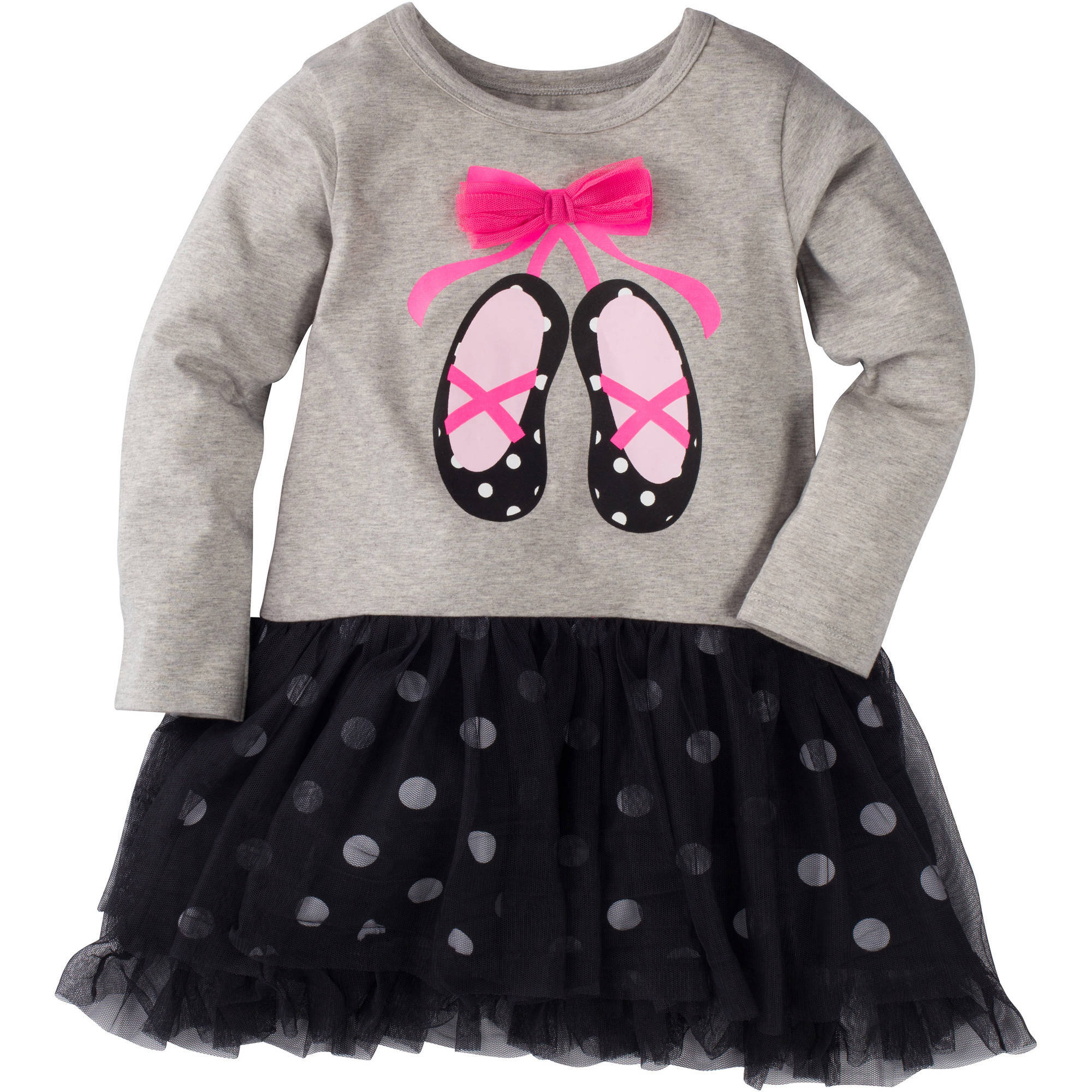 Gerber Graduates Infant Toddler Girl Tulle Dress with Bow