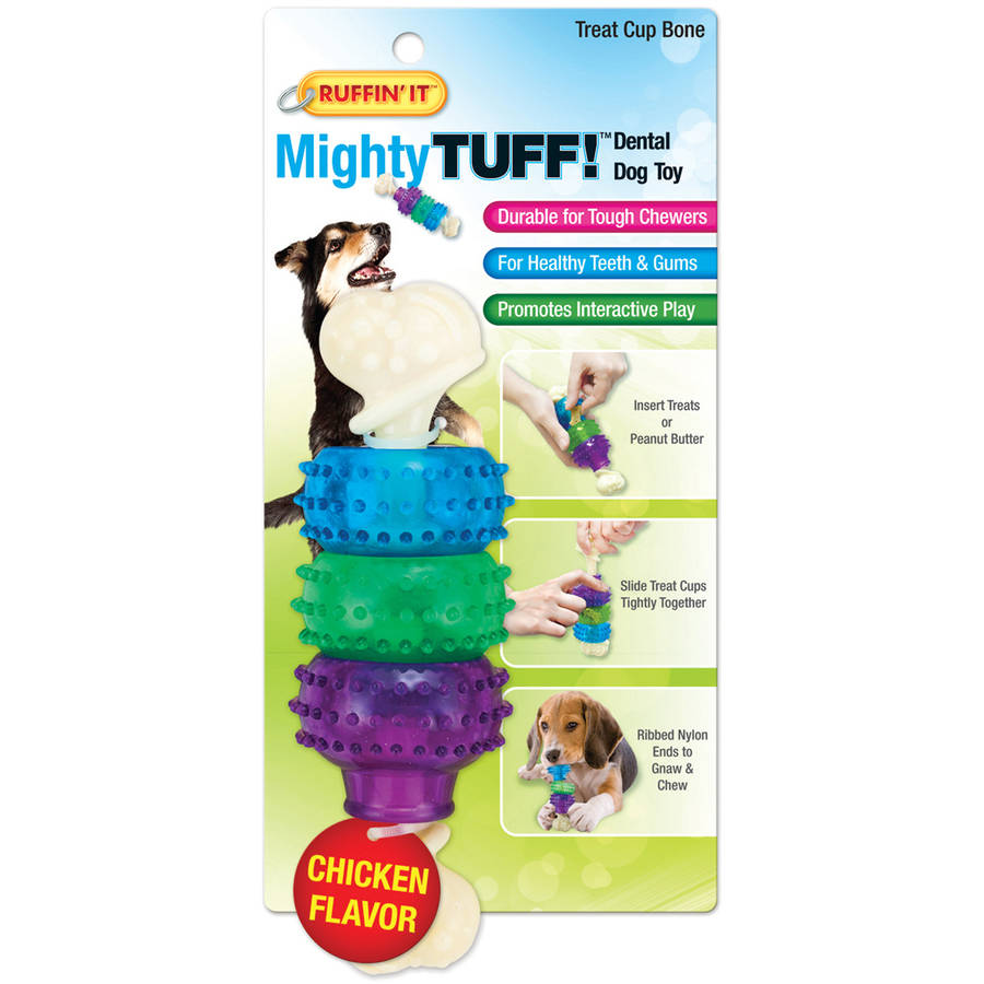 Mighty Tuff Treat Cup Bone Dog Toy
