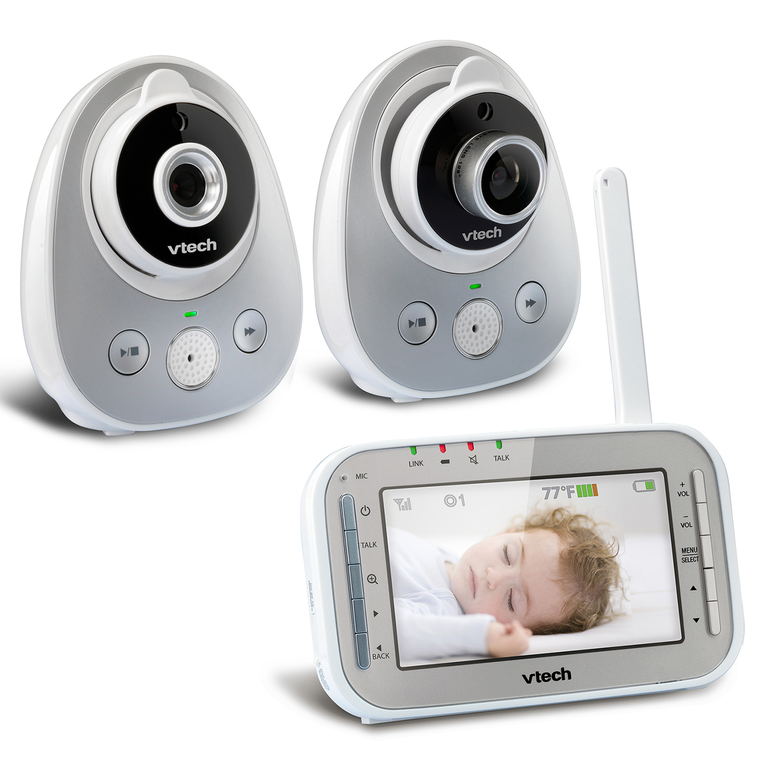 VTech VM342-2, Video Baby Monitor, Wide-Angle Lens, 2 Cameras by VTech