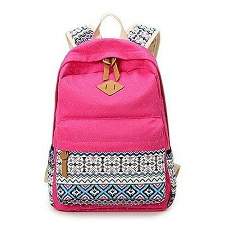 4aa853c2a53a abshoo - Abshoo Cute Lightweight Canvas School Backpacks for Teen Girls  Rose Red Bookbags - Walmart.com