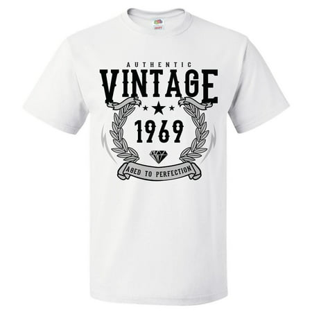 - 50th Birthday Gift For 50 Year Old 1969 Aged To Perfection T Shirt Gift