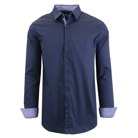 - Men's Long Sleeve Slim-Fit Solid Dress Shirts
