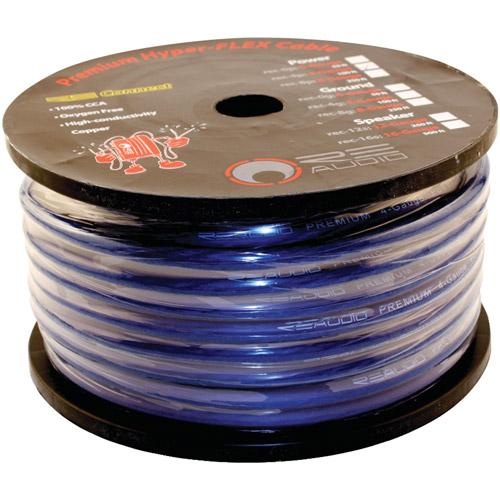 RE Audio REC-4P Premium Hyper Flex 4 Gauge Power Wire, 100', Blue