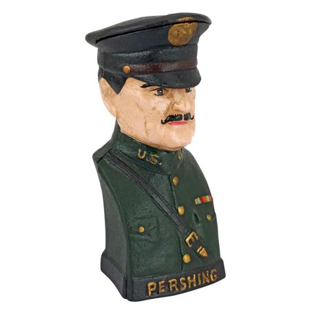 General John J   Black Jack  Pershing Still Action Die Cast Iron Bank