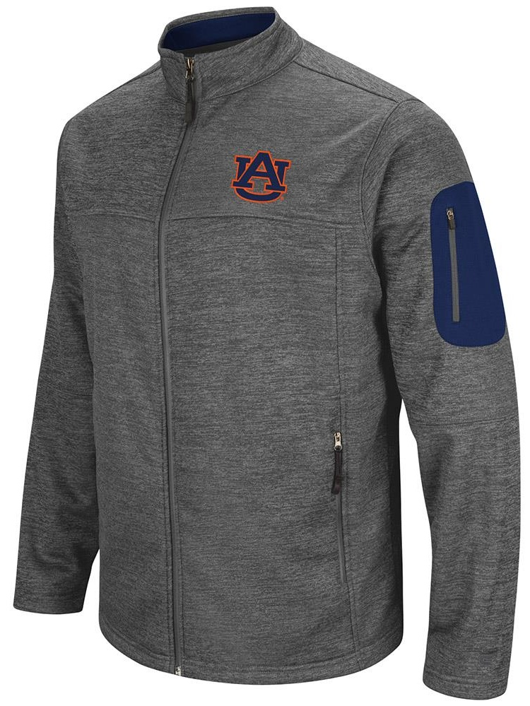 Mens Auburn Tigers Full Zip Jacket by Colosseum