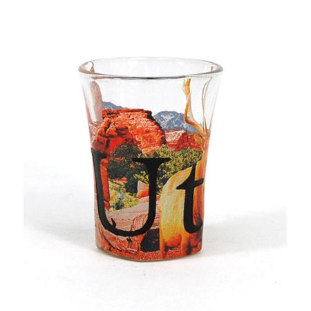 Etched Glass Insert (Americaware SGUTH02 Utah Full Color Etched  Shot Glass)