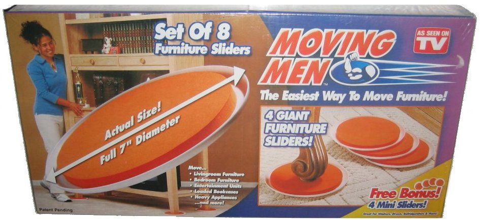 Moving Men As Seen On TV 8 Piece Furniture Slider Set   Walmart.com