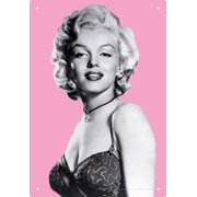 Marilyn Pink Tin Sign Tin Sign - 11.5x8