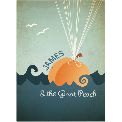 """Trademark Fine Art """"James and the Giant Peach"""" Canvas Art by Megan Romo"""