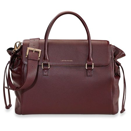 Levenger Madison Bucket Bag Oxblood