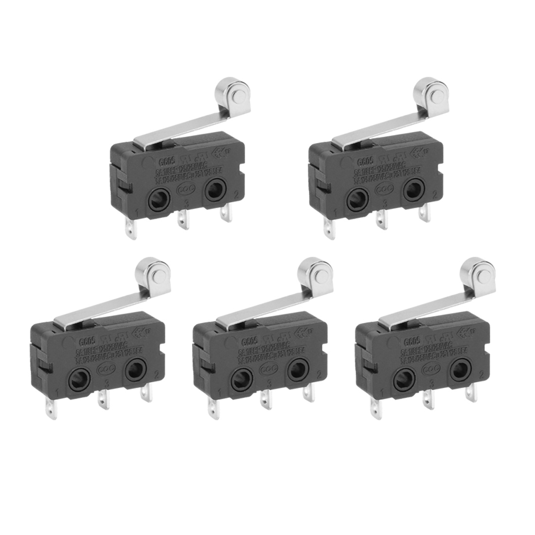 5 Pcs G606-150S06A Micro Limit Switch Roller Arm Subminiature SPDT Snap Action - image 3 of 3
