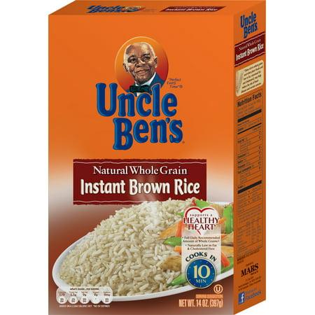 Uncle Bens Natural Whole Grain Instant Brown Rice  14 0 Oz