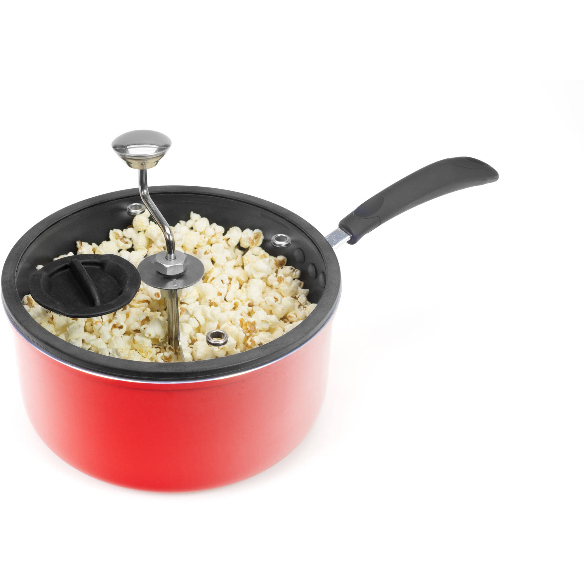 Generic Zippy 5.5-qt Stovetop Popcorn Maker with Glass Silicone-Rimmed Lid