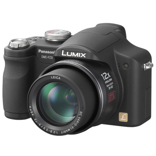 Panasonic Lumix DMC-FZ8 Black ~ 7.2 MP Digital Camera w/ ...