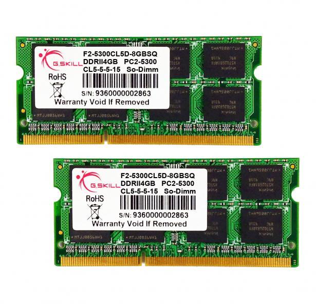 8GB G.Skill DDR2 PC2-5300 laptop dual channel memory kit ...