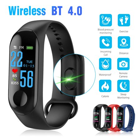 Bluetooth Smart Watch, EEEKit Waterproof Smart Wrist Watch Band Heart Rate Monitor with 3D Sensor Pedometer Blood Pressure Monitoring for iPhone Samsung LG Google Nokia