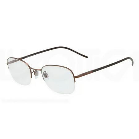 Giorgio Armani Semi-Rimless Eyeglass Frames AR5001 50mm Matte Bronze Giorgio Armani Frames