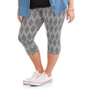 Junior's Plus Printed Capri Legging