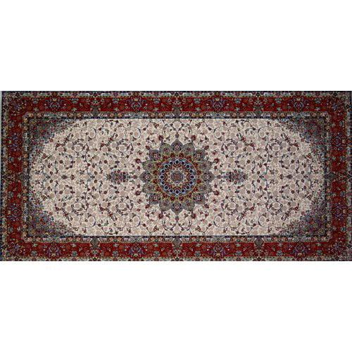 Astoria Grand Mcsweeney Hand Look Persian Wool Red/Brown/Blue Area Rug