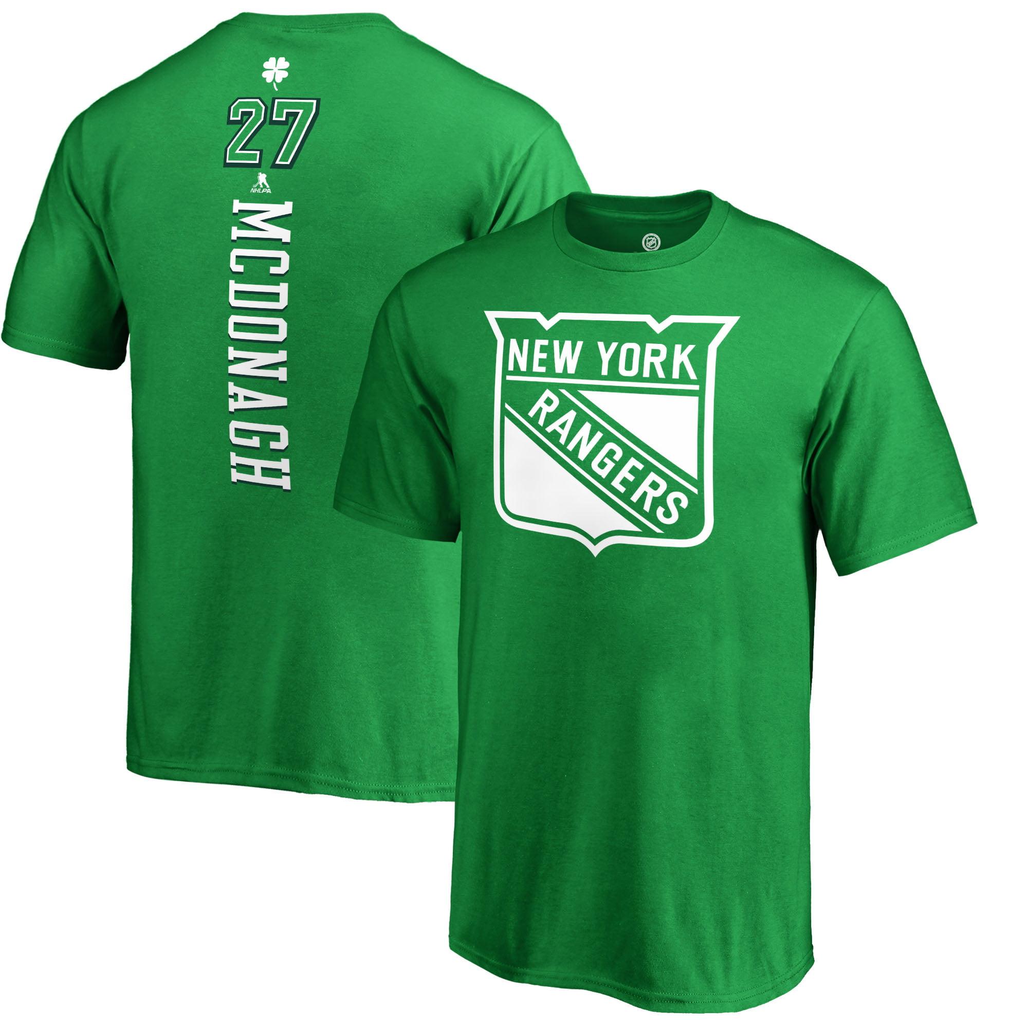 Ryan McDonagh New York Rangers Fanatics Branded Youth St. Patrick's Day Backer Name & Number T-Shirt - Kelly Green