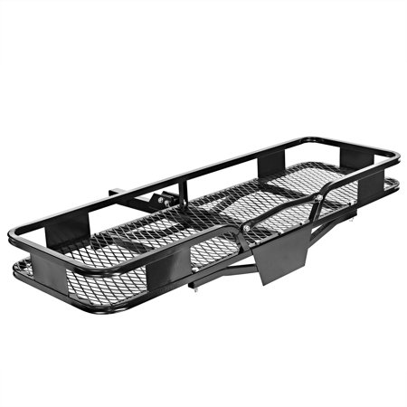 Direct Aftermarket Folding Hitch Cargo Carrier Luggage Rack 60 inch Hauler 2 inch Receiver Folding Hitch Mounted Cargo