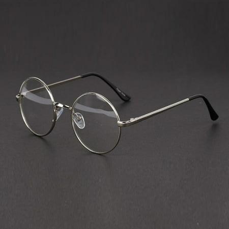 Round Retro Clear Lens Nerd Frames Glasses Mens Womens Eyewear Fashion