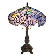 "CHLOE Lighting Tiffany-style 2 Light Wisteria Table Lamp 16"" Shade"
