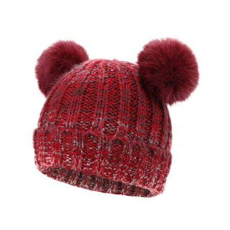 65dc0eb2f85 Braided Crochet Wool Knit Beanie Beret Ski Ball Cap Baggy Womens Winter  Warm Hat
