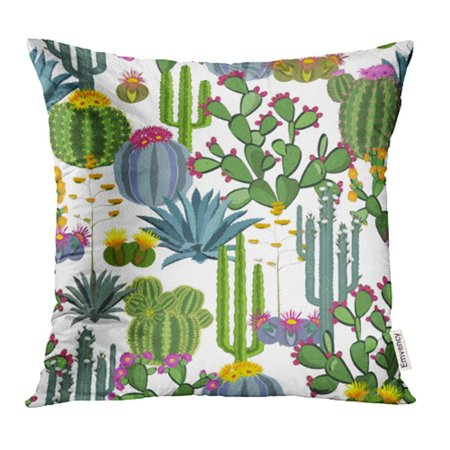 USART Cactus Plants Blue Agave and Prickly Pear Perfect for Your Project Wedding Pillow Case Pillow Cover 16x16 inch Throw Pillow Covers