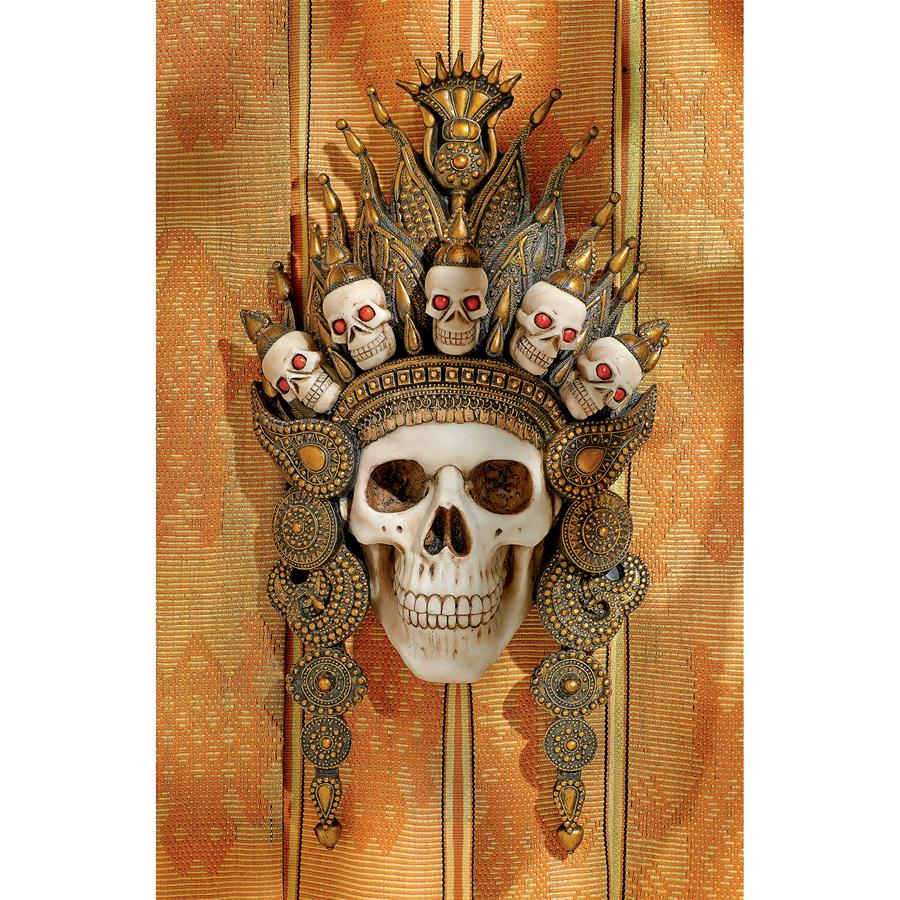 Balinese God of the After Life Sculptural Skull Wall Mask