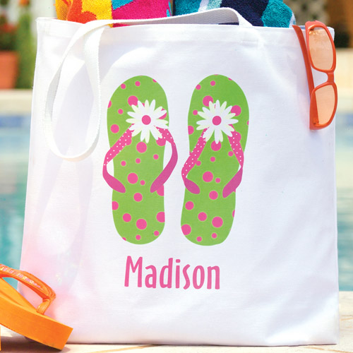 Personalized Flip-Flops Tote
