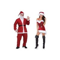 Santa Pub Crawl Men and Miss Santa Women Couples Costumes