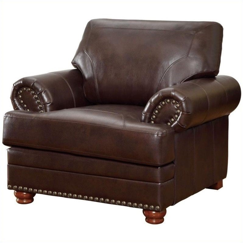 Coaster Company Colton Chair, Brown Leather