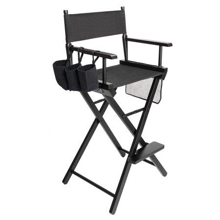 Ktaxon Solid Hardwood & Polyester Folding Makeup Director Chair W/ Storage Bag