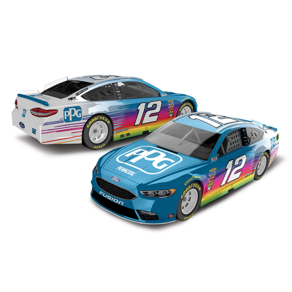 Ryan Blaney Action Racing 2018 #12 PPG 1:64 Regular Paint Die-Cast Ford Fusion - No Size
