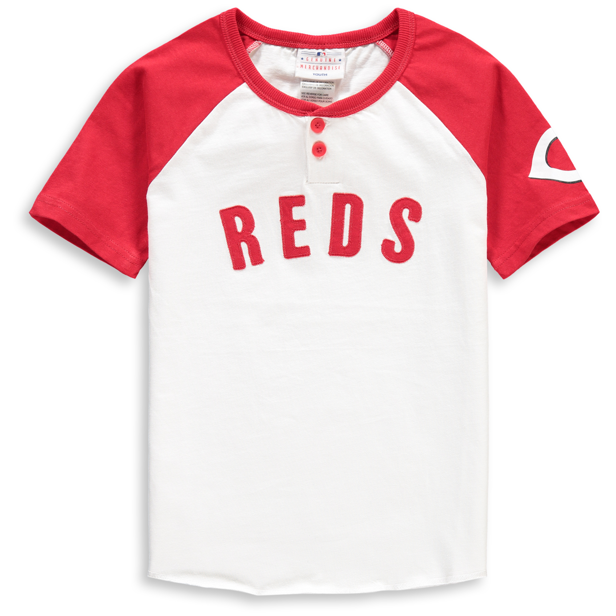 Cincinnati Reds Youth Game Day Jersey T-Shirt - White/Red