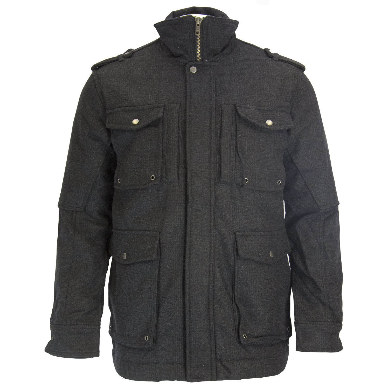 Canterbury of New Zealand Charcoal Hayes 4-Pkt Jacket