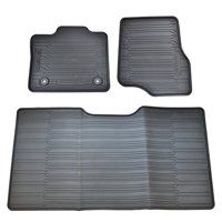 Oem Factory Stock Genuine 2015 Ford F-150 F150 SuperCrew Black Ebony Rubber All Weather Floor Mats Set 3-pc Front & Rear