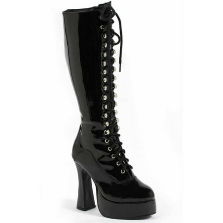 Easy Black Boots Women's Adult Halloween Costume Accessory - Long Black Hair Costume