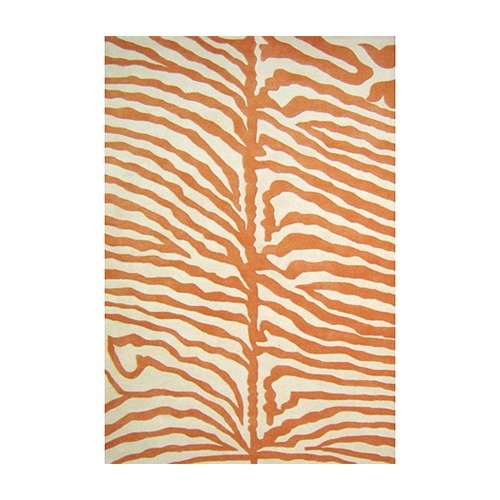 Wildon Home  Cryss Hand-Tufted Orange & Cream Area Rug
