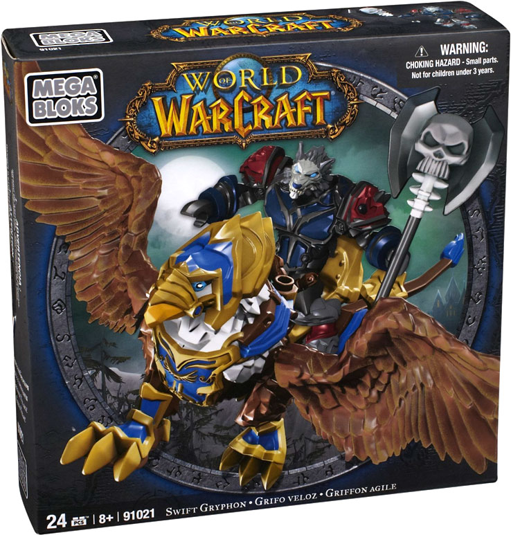 Mega Bloks World of Warcraft Swift Gryphon and Graven (Alliance Wargen Death Knight) Play Set