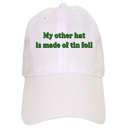 - CafePress - Other Hat Made Of Tin Foil - Printed Adjustable Baseball Cap
