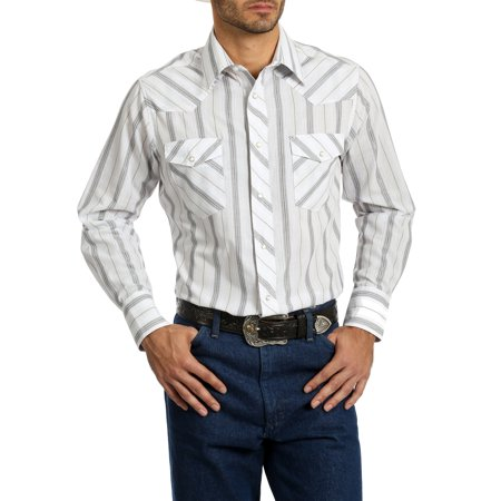 Western Pleasure Show Shirts - Men's Long Sleeve Striped Western Shirt
