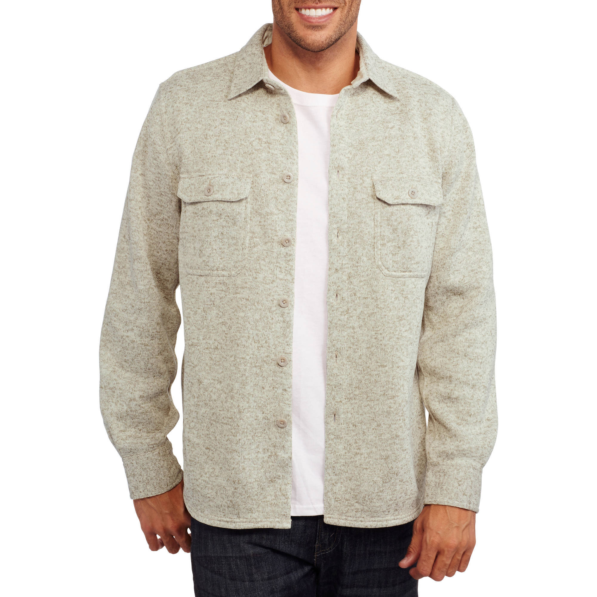 Faded Glory Big Men's Button Down Fleece Shirt