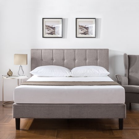 Zinus Brandy Vertical Detailed Upholstered Platform Bed